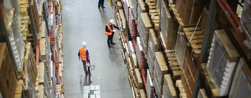 Employees working in a warehouse